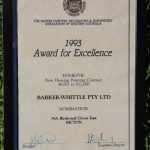 Award for Excellence 1993