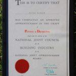 Peter Barker Apprenticeship 1982
